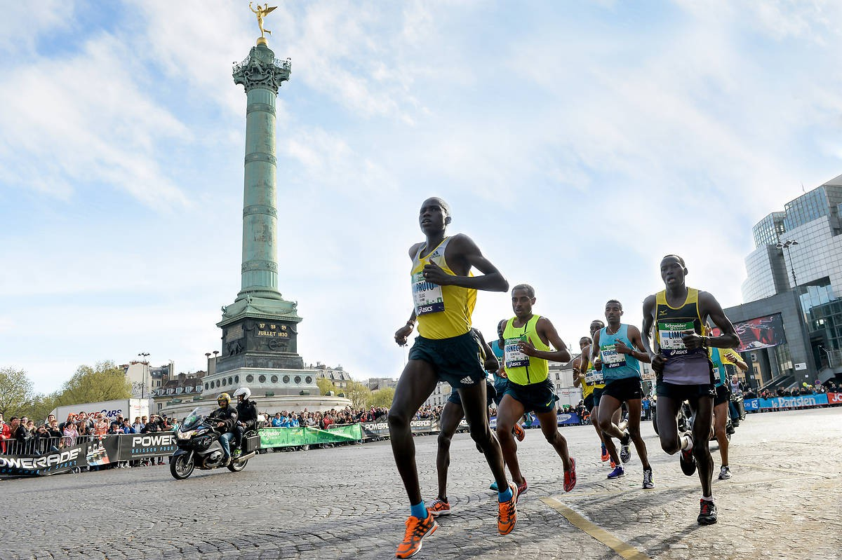 Läufer Marathon de Paris 2014